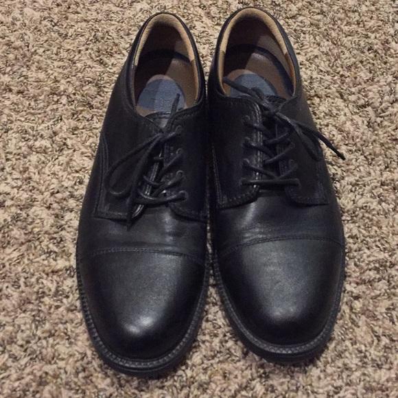 Mens Dockers Black Dress Shoes